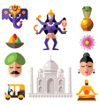 Indian icon set vector image