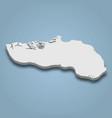 3d isometric map ijsselmonde is an island in vector image vector image