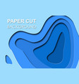 3d papercut banner of gradient white paper layers vector image vector image