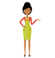 African woman presenting something cartoon vector image vector image