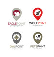 animal point logo set vector image vector image