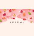 autumn banner background vector image