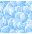 Balloon seamless background white and blue vector image vector image