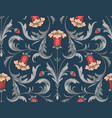 blue bellflowers pattern vector image vector image
