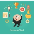 business startup infographics vector image vector image
