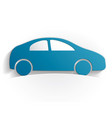 car icon paper vector image vector image