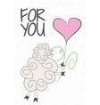 card for you fabulous sheep vector image vector image