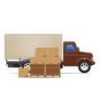 cargo truck concept 03 vector image vector image