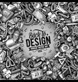 cartoon doodles design card graphics vector image vector image