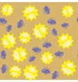 Cartoon sun and cloud seamless pattern 630 vector image