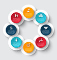 circle infographic with 8 options or parts vector image vector image