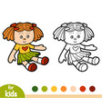 coloring book for children doll vector image vector image