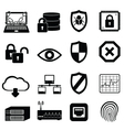 Computer virus and cyber security icon set vector image vector image