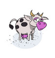 cow cartoon hand drawn image vector image