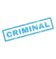 Criminal Rubber Stamp vector image vector image