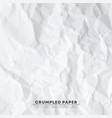 crumpled white paper texture background pixel vector image