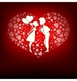 Design a set of hearts boy and girl vector image vector image