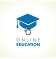 digital school education click logo vector image