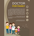 doctor and cute family background poster portrait vector image vector image