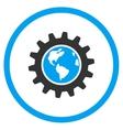 Earth Engineering Icon vector image vector image