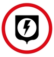 Electric Protection Flat Rounded Icon vector image vector image