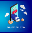 express delivery isometric design vector image vector image