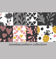 floral seamless background set vector image vector image