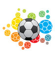 football world cup poster design vector image vector image
