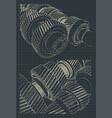 gearbox blueprints vector image vector image
