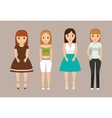 Girls teenagers cartoons design vector image