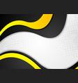 Grunge wavy corporate background vector image vector image