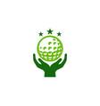 hand golf logo icon design vector image