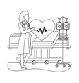 healthcare medical cartoon vector image