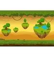 Horizontal seamless cartoon fantastic forest vector image