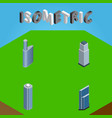 isometric skyscraper set of residential vector image vector image