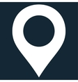 Map Marker flat white color icon vector image vector image