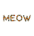 meow sign text letters of cats pet font home vector image