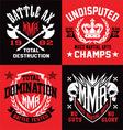 MMA sport emblem graphics vector image