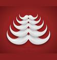 modern concept santa mustache and christmas vector image vector image