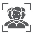 multi face id glyph icon face recognition vector image