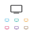of devices symbol on telly vector image