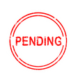 office stamp pending vector image vector image