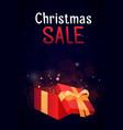 open gift box with festive sequins christmas sa vector image