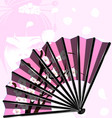 pink fan and face vector image vector image