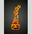 pumpkin halloween art vector image