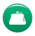 purse retro icon green vector image vector image