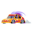 rave car with number vehicle in race competition vector image