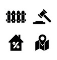 real estate simple related icons vector image vector image