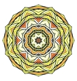 Round kaleidoscopic ornamental background vector image vector image