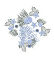 sea shell elements composition flat seashell vector image